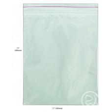 """Reseal Plastic Bags; 15 x 11"""" 380 x 280mm 5 x 100pk/ctn 500/ctn"""