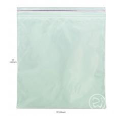 """Reseal Plastic Bags; 16 x 14"""" 400 x 350mm 5 x 100pk/ctn 500/ctn"""