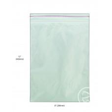 """Reseal Plastic Bags; 12 x 8"""" 300 x 200mm 10 x 100pk/ctn 1000/ctn"""