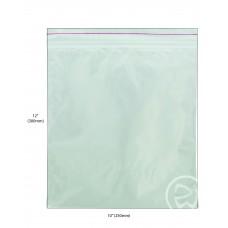 """Reseal Plastic Bags; 12 x 10"""" 300 x 250mm 10 x 100pk/ctn 1000/ctn"""