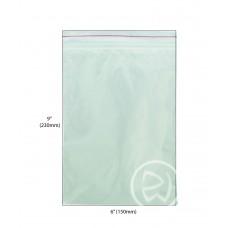 """Reseal Plastic Bags; 9 x 6"""" 230 x 150mm 10 x 100pk/ctn 1000/ctn"""