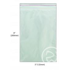 """8 x 5"""" Reseal Plastic Bags 200 x 125mm 10 x 100pk/ctn 1000/ctn"""