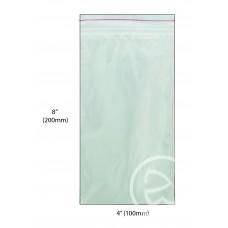 """Reseal Plastic Bags; 8 x 4"""" 200 x 100mm 10 x 100pk/ctn 1000/ctn"""