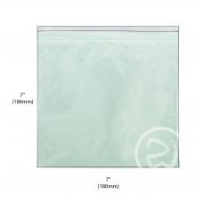 """Reseal Plastic Bags; 7 x 7"""" 180 x 180mm 10 x 100pk/ctn 1000/ctn"""