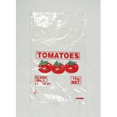 Plastic Bags; tomato 1kg vented 35UM 10 x 100pk/ctn 1000/ctn