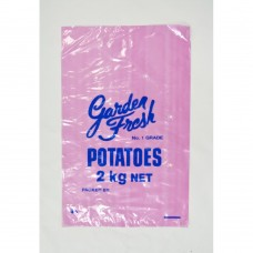 Plastic Bags; potato 2kg vented 35UM pink 10 x 100pk/ctn 1000/ctn