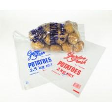 Plastic Bags; potato 2.5kg vented 32Um clear 10 x 100pk/ctn 1000/ctn