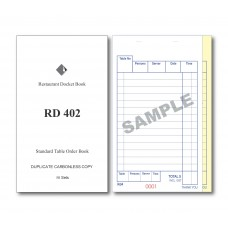 Docket Book; 402 standard table order duplicate carbonless 100 pages 100/ctn