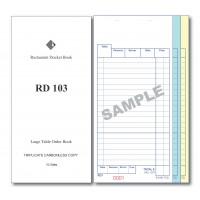 Docket Book; 103 large table order triplicate carbonless 50 sets 100/ctn
