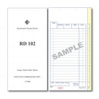 Docket Book; 102 large table order duplicate carbonless 50 sets 100/ctn