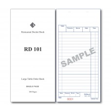 Docket Book; 101 large table order single copy 100 pages 100/ctn