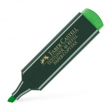 Highlighter; Faber Castell Green 10/pk