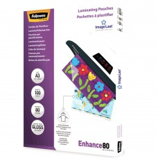 Laminating Pouches; A4 Fellowes 80gsm 100/pk