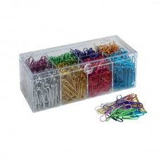 Paper Clips; 33mm coloured 100/pk