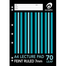 Lecture Pad; A4 70 page 7mm ruled 141290