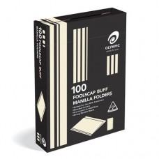 Manilla Folders; Foolscap buff Olympic 100pk 193860