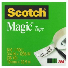 Scotch Magic 810 Invisible Adhesive Tape 19mm x 33m each roll