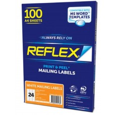 Reflex Mail Label 24Up 64x33.9mm 100pk