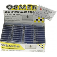 Osmer Conference Name Badge p2x60mm 50pk