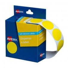 Label Avery 24mm Yellow Dot