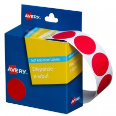 Label Avery 24mm Red Dot