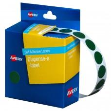 Label Avery 24mm Green Dot